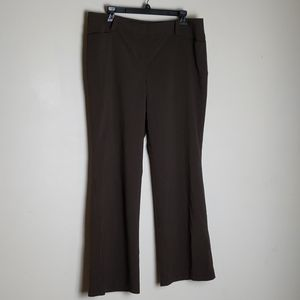 Ann Taylor Fully Lined Pinstripe Brown Dress Pants